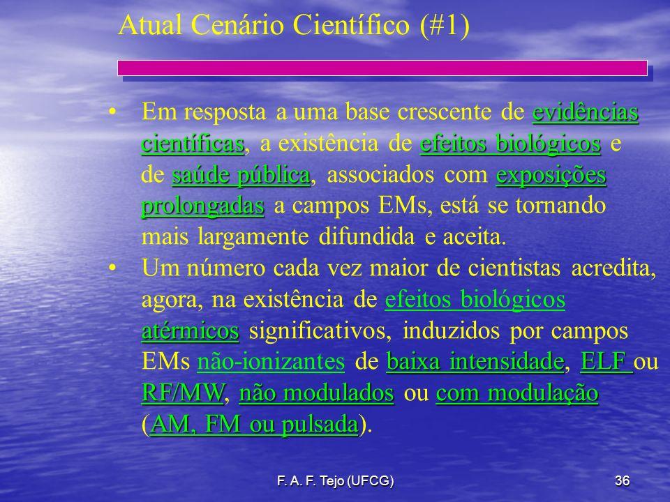 F. A. F. Tejo (UFCG)36 evidênciasEm resposta a uma base crescente de evidências científicasefeitos biológicos científicas, a existência de efeitos bio