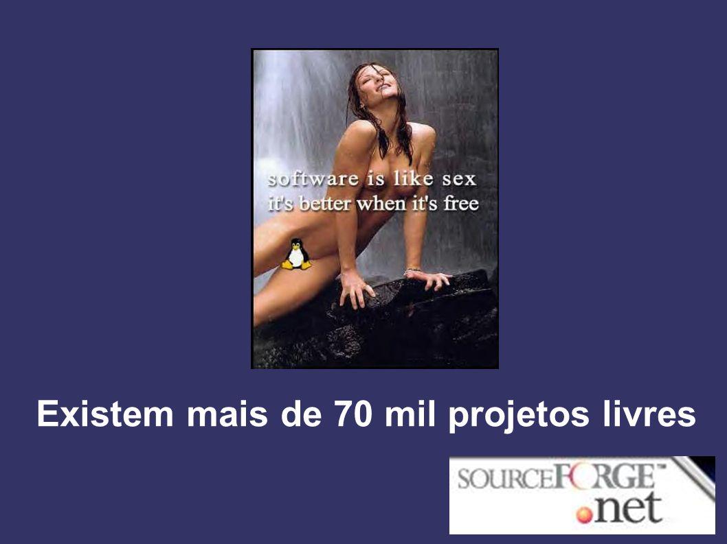 Existem mais de 70 mil projetos livres