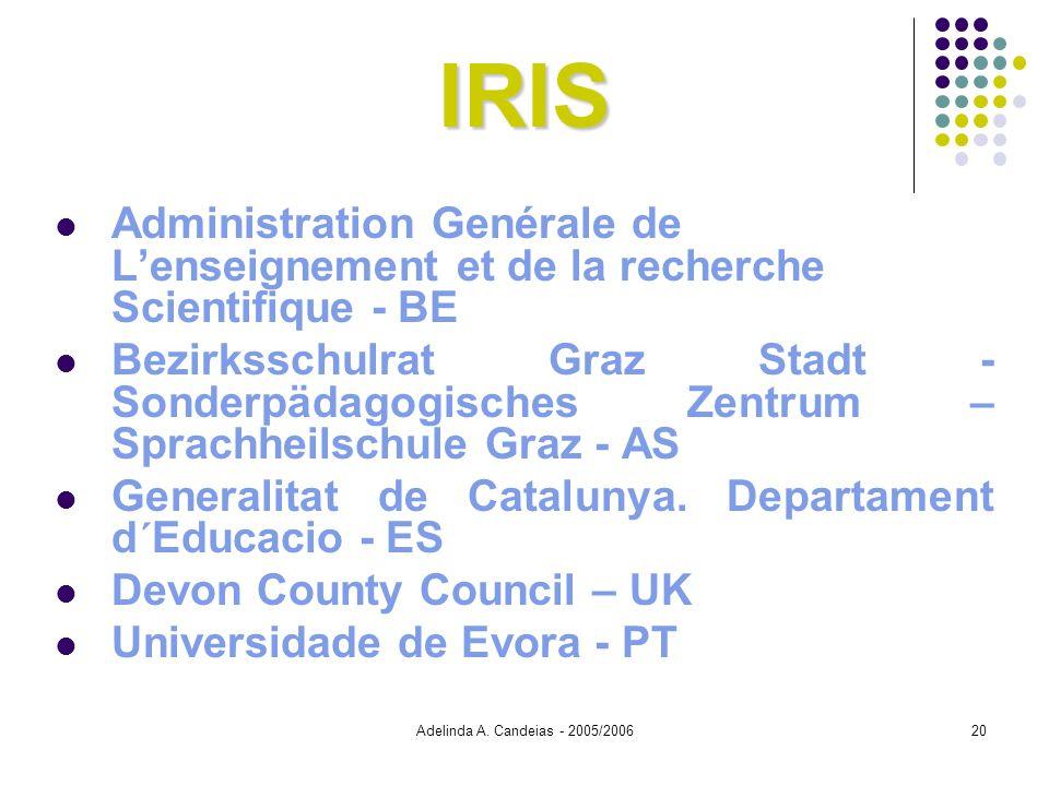 Adelinda A. Candeias - 2005/200620 IRIS Administration Genérale de Lenseignement et de la recherche Scientifique - BE Bezirksschulrat Graz Stadt - Son
