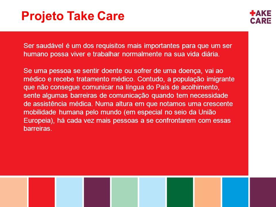 Projeto Take Care Ser saudável é um dos requisitos mais importantes para que um ser humano possa viver e trabalhar normalmente na sua vida diária. Se