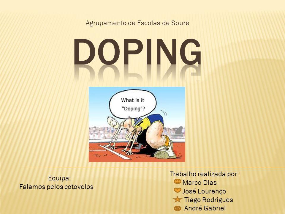 O problema do Doping, vem do Homem para o desporto, e não do desporto para o Homem.