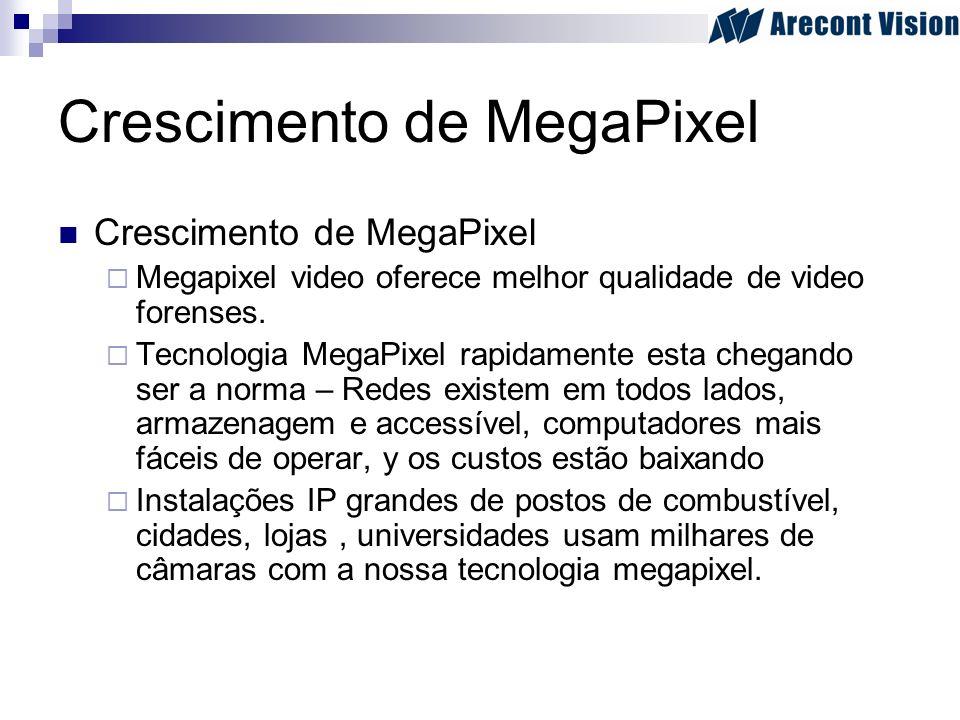 Crescimento de MegaPixel Megapixel video oferece melhor qualidade de video forenses. Tecnologia MegaPixel rapidamente esta chegando ser a norma – Rede