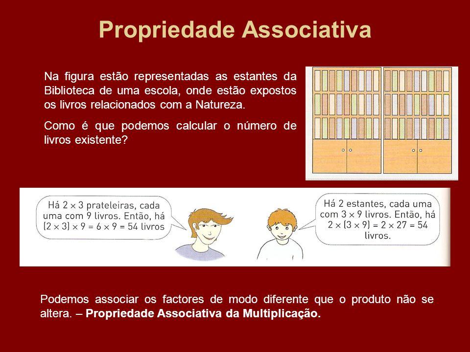 Propriedade Associativa Na figura estão representadas as estantes da Biblioteca de uma escola, onde estão expostos os livros relacionados com a Nature