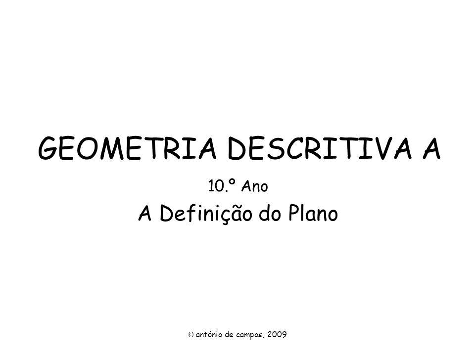 Um plano δ é definido por duas rectas paralelas, a e b.