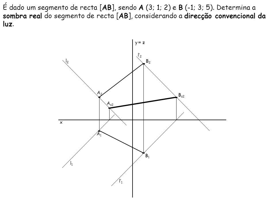 É dado um segmento de recta [RS], sendo R (3; 3; 1) e S (-2; 1; 4).