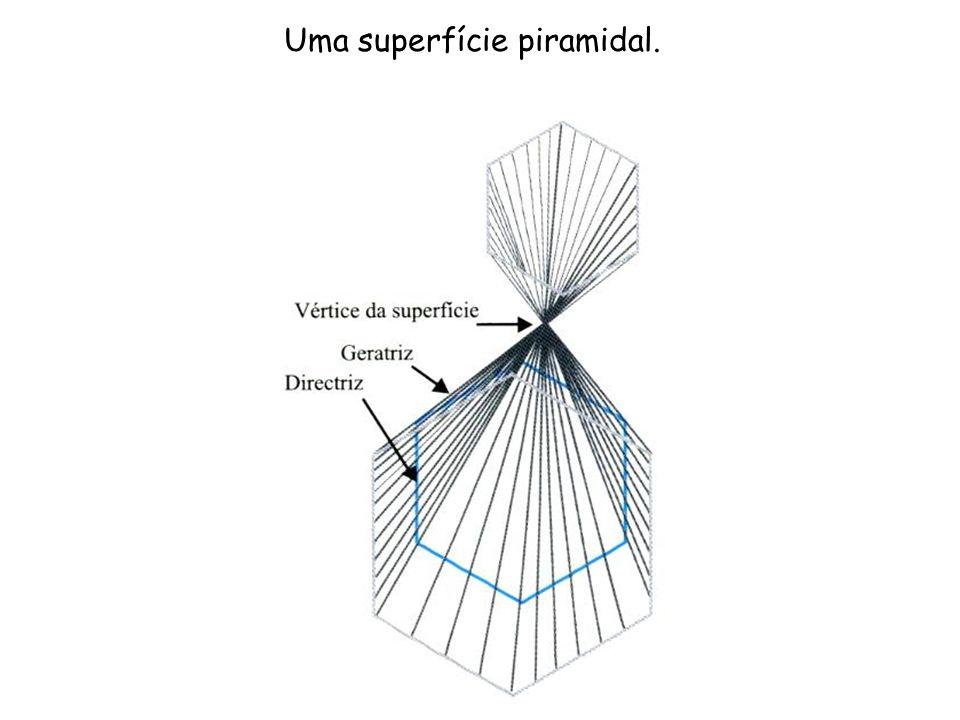 Uma superfície piramidal.