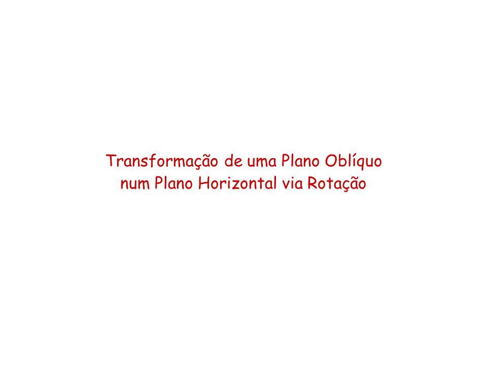 Transformação de uma Plano Oblíquo num Plano Horizontal via Rotação