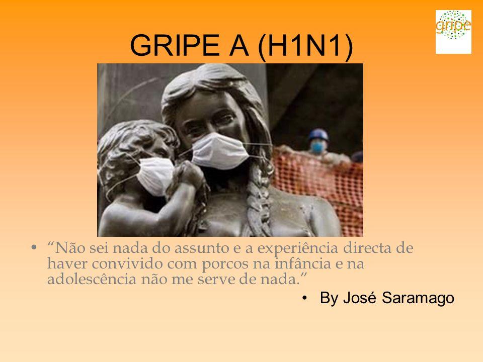GRIPE A (H1N1) Não sei nada do assunto e a experiência directa de haver convivido com porcos na infância e na adolescência não me serve de nada. By Jo