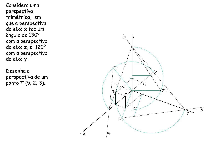 REBATIMENTO DOS PLANOS COORDENADOS – Definidos por um par de eixos Através do processo de rebatimento dos planos coordenados, é possível obter graficamente o coeficiente de redução, sem recorrer a tabelas e a cálculos matemáticos.