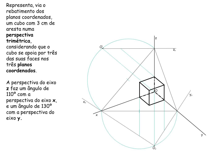 MÉTODO DOS CORTES Semelhante ao processo de rebatimento dos planos coordenados, é outro método para obter graficamente o coeficiente de redução, sem recorrer a tabelas e a cálculos matemáticos.