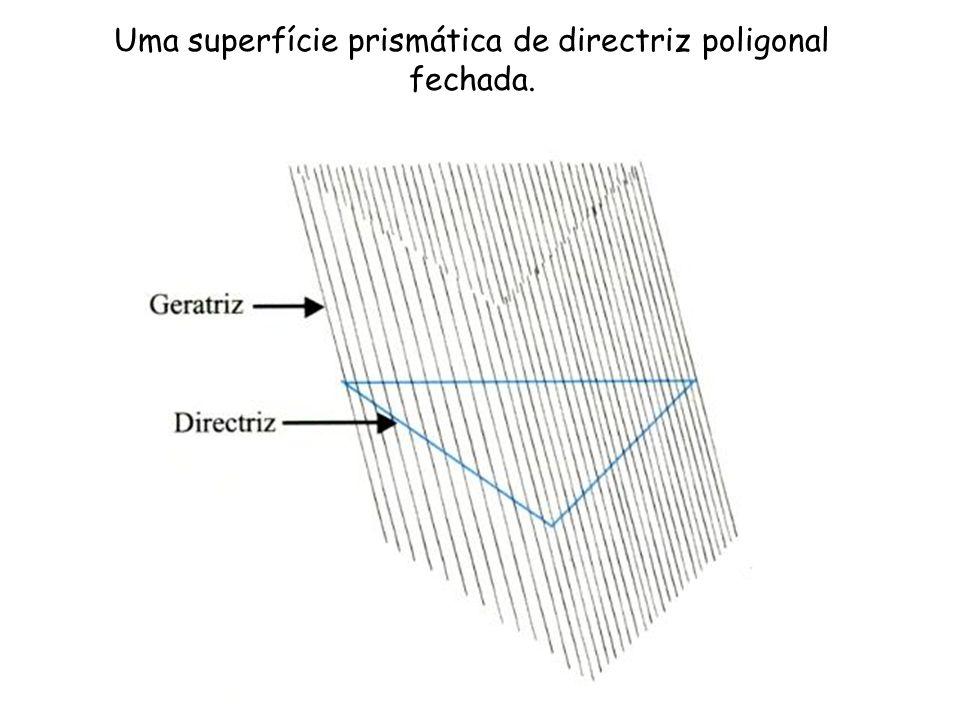 Uma superfície prismática de directriz poligonal fechada.