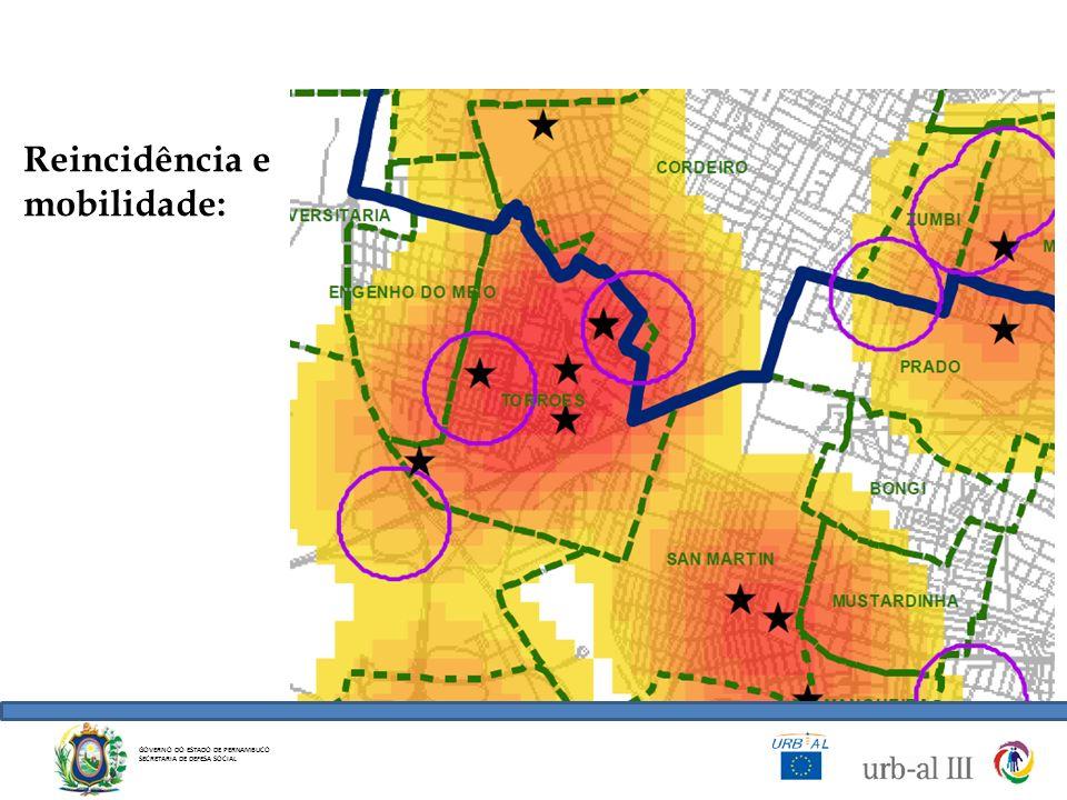GOVERNO DO ESTADO DE PERNAMBUCO SECRETARIA DE DEFESA SOCIAL Reincidência e mobilidade: