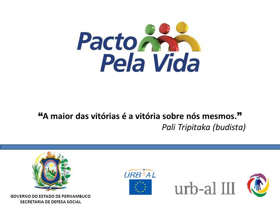 GOVERNO DO ESTADO DE PERNAMBUCO SECRETARIA DE DEFESA SOCIAL A maior das vitórias é a vitória sobre nós mesmos. Pali Tripitaka (budista)