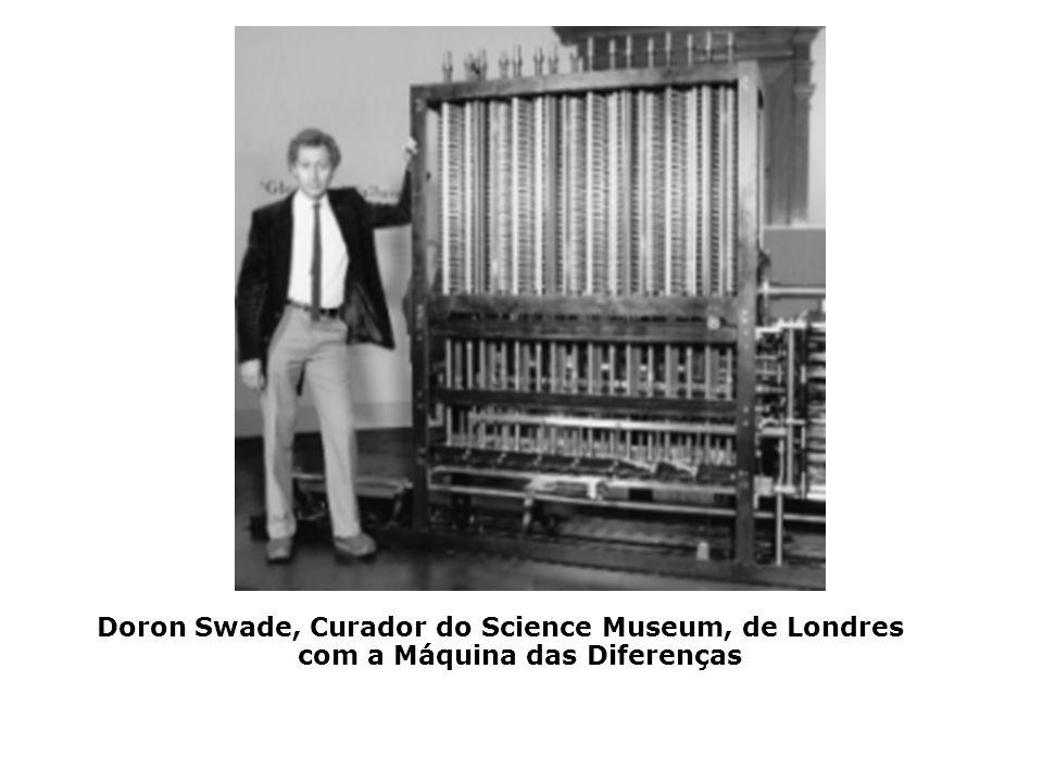 1833 Babbage projetou uma máquina, com o auxílio de sua companheira Ada Lovelace, que chamou de Analítica, muito mais geral que a de Diferenças, const