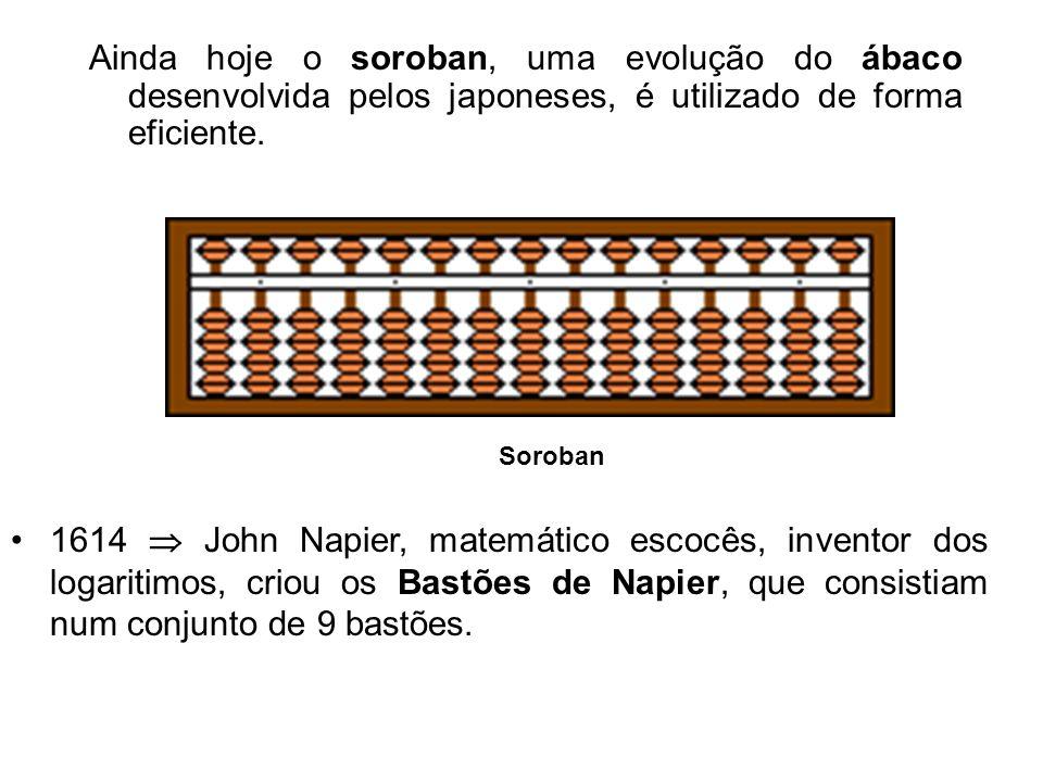 Ainda hoje o soroban, uma evolução do ábaco desenvolvida pelos japoneses, é utilizado de forma eficiente.