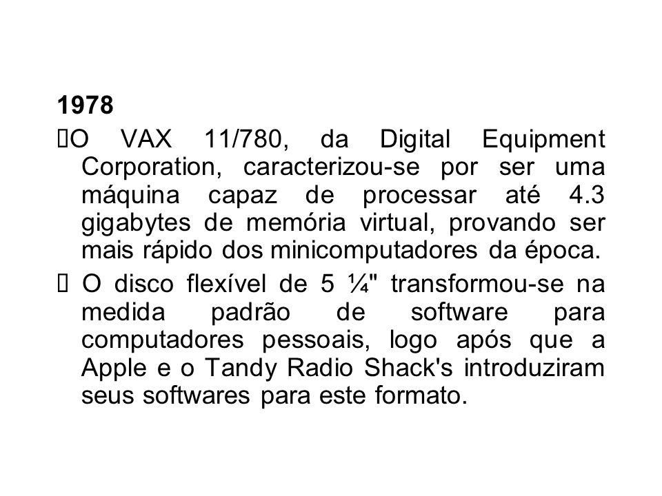 1977 S urge o Commodore PET (Personal Eletronic Transactor), um dos primeiros computadores pessoais que foi lançado no ano. O Apple II apresenta carac