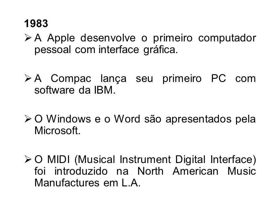 1982 O lotus 123 é desenvolvido por Mitch Kapor para o PC da IBM. O filme