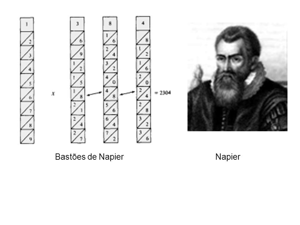 Ainda hoje o soroban, uma evolução do ábaco desenvolvida pelos japoneses, é utilizado de forma eficiente. Soroban 1614 John Napier, matemático escocês