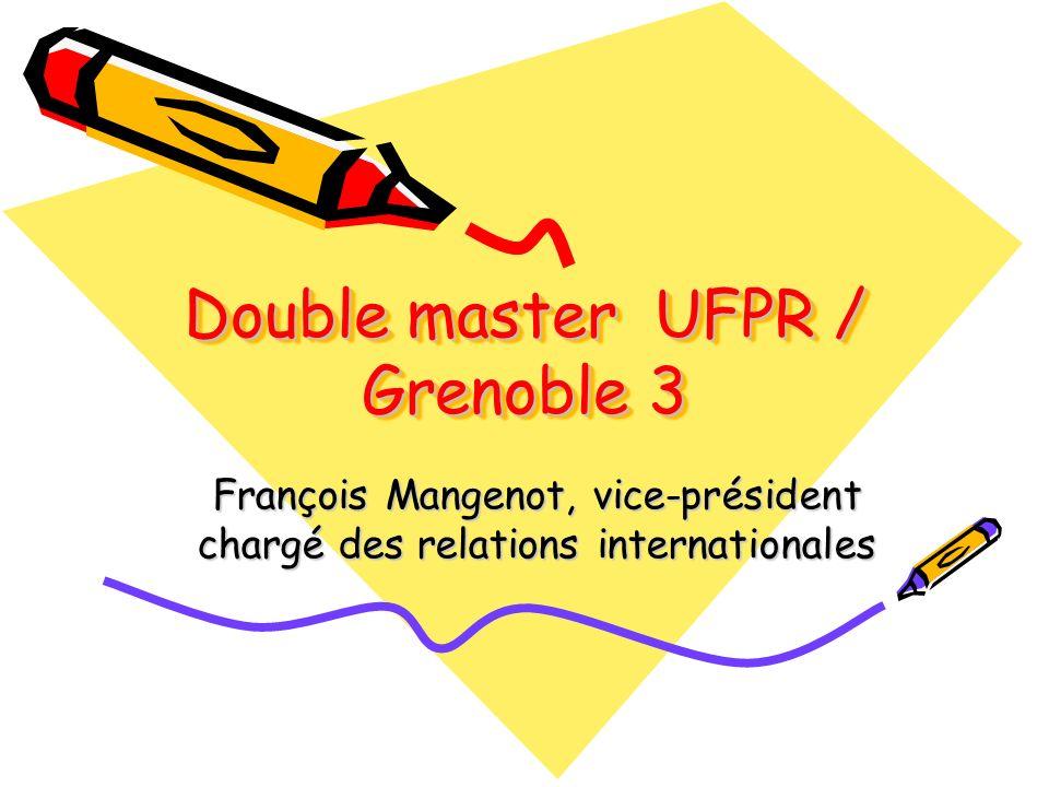 Double master UFPR / Grenoble 3 François Mangenot, vice-président chargé des relations internationales