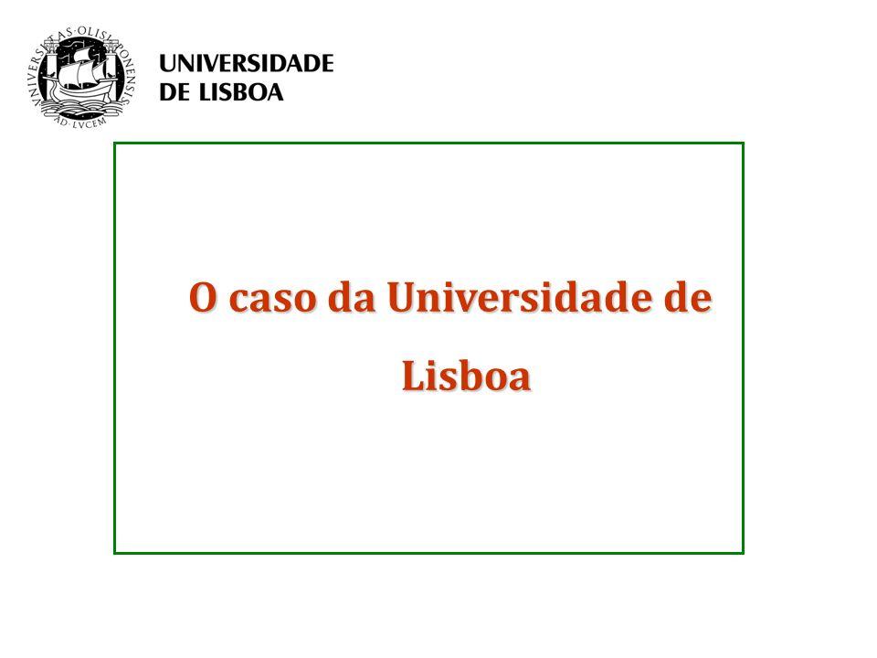 O caso da Universidade de Lisboa