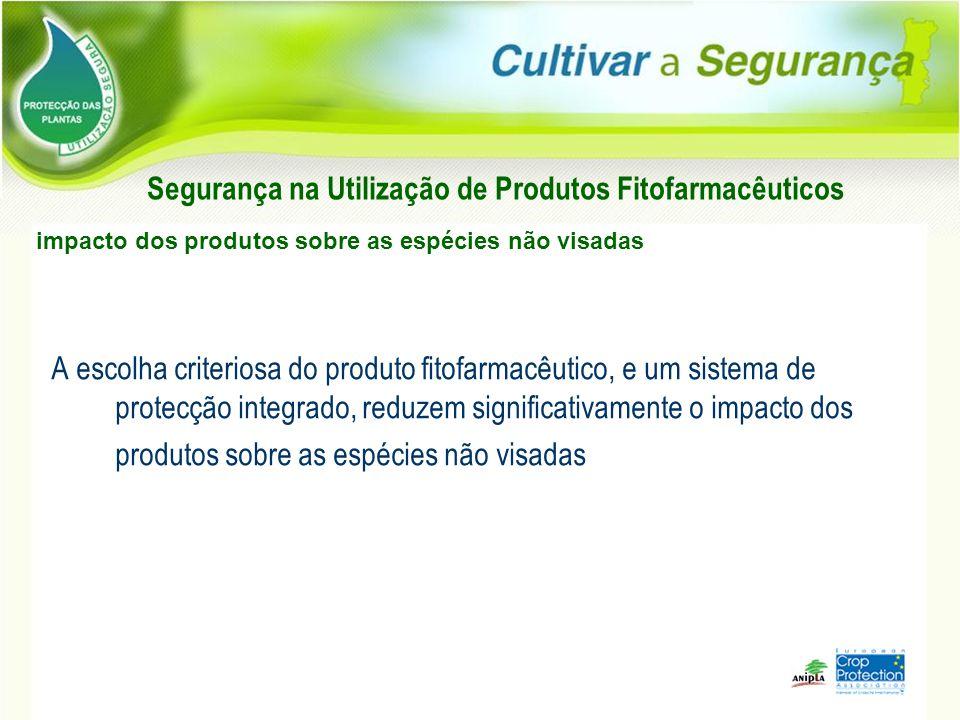 A escolha criteriosa do produto fitofarmacêutico, e um sistema de protecção integrado, reduzem significativamente o impacto dos produtos sobre as espé