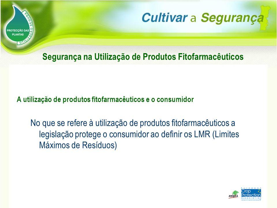 Segurança na Utilização de Produtos Fitofarmacêuticos A utilização de produtos fitofarmacêuticos e o consumidor No que se refere à utilização de produ