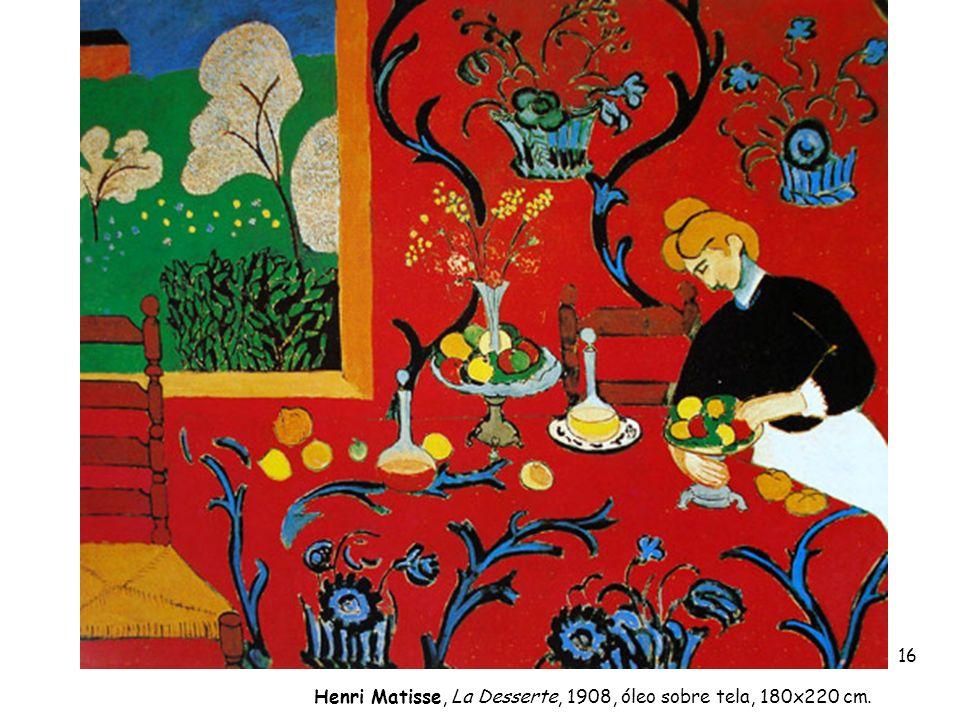 Henri Matisse, La Desserte, 1908, óleo sobre tela, 180x220 cm. 16