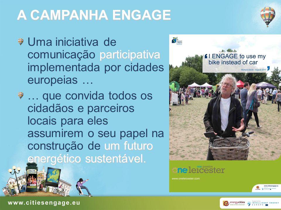 A CAMPANHA ENGAGE participativa Uma iniciativa de comunicação participativa implementada por cidades europeias … um futuro energético sustentável. … q