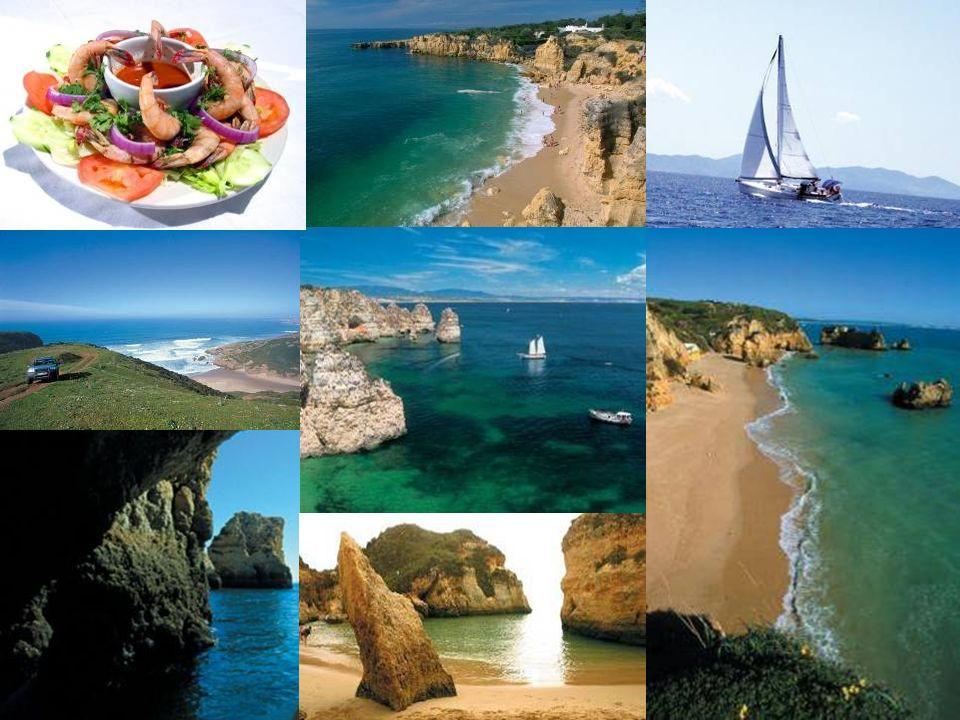 8 O Algarve é um destino turístico com uma forte imagem internacional, devida às condições climáticas amenas, praias de areia branca, hospitalidade da população local e cozinha fabulosa.