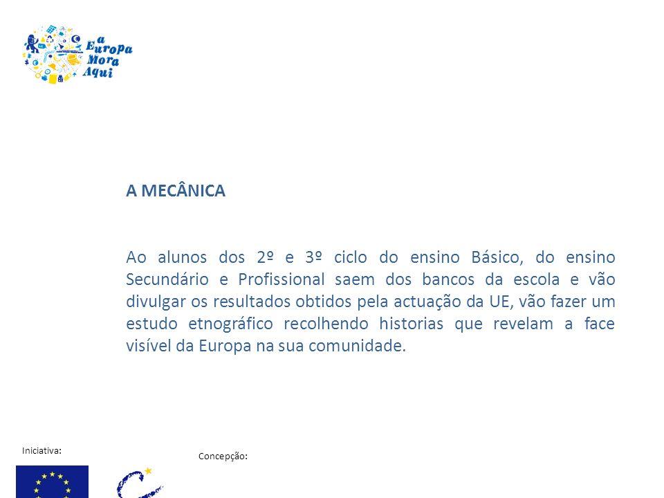 Iniciativa: Concepção: Projecto financiado pela comissão Europeia A MECÂNICA Ao alunos dos 2º e 3º ciclo do ensino Básico, do ensino Secundário e Prof