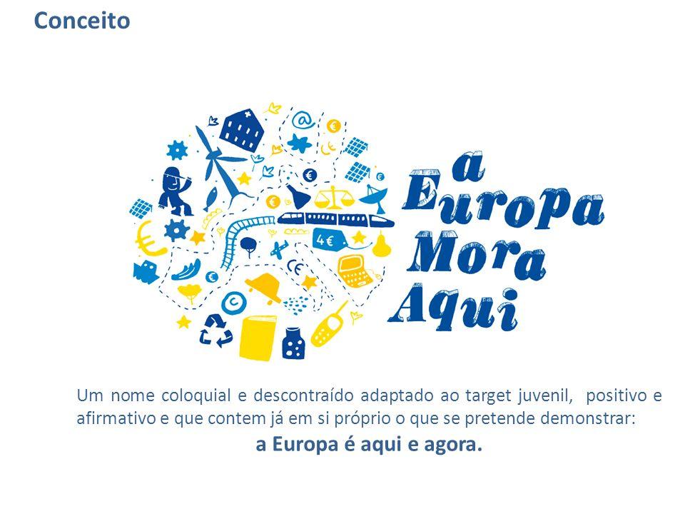 Um nome coloquial e descontraído adaptado ao target juvenil, positivo e afirmativo e que contem já em si próprio o que se pretende demonstrar: a Europ