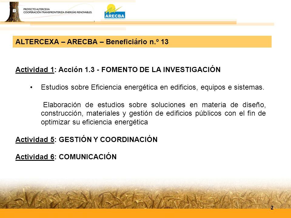 Actividad 1: Acción 1.3 - FOMENTO DE LA INVESTIGACIÓN Estudios sobre Eficiencia energética en edificios, equipos e sistemas. Elaboración de estudios s