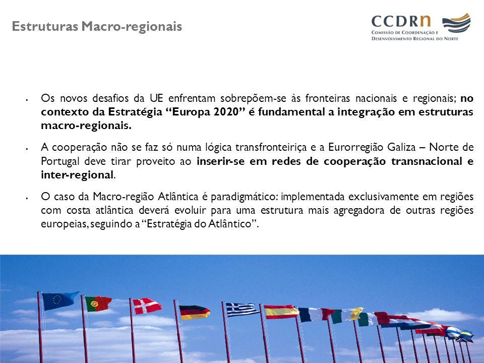 A Cooperação transfronteiriça em 2020 O pobre desempenho da economia Europeia, apesar dos recursos afectos à inovação e às políticas de competitividade, obrigam a uma mudança de paradigma na política Europeia, com reflexos nas estratégias regionais de inovação e nos modelos de cooperação inter-regional; Vivemos um contexto de maior exigência e em que os modelos de cooperação, também transfronteiriça, deverão sofrer uma transformação em função de uma cooperação mais inteligente e focada tematicamente; Tal desiderato só será possível mediante a implementação de um diagnóstico de especialização inteligente também à escala da cooperação inter-regional, transfronteiriça e transnacional.