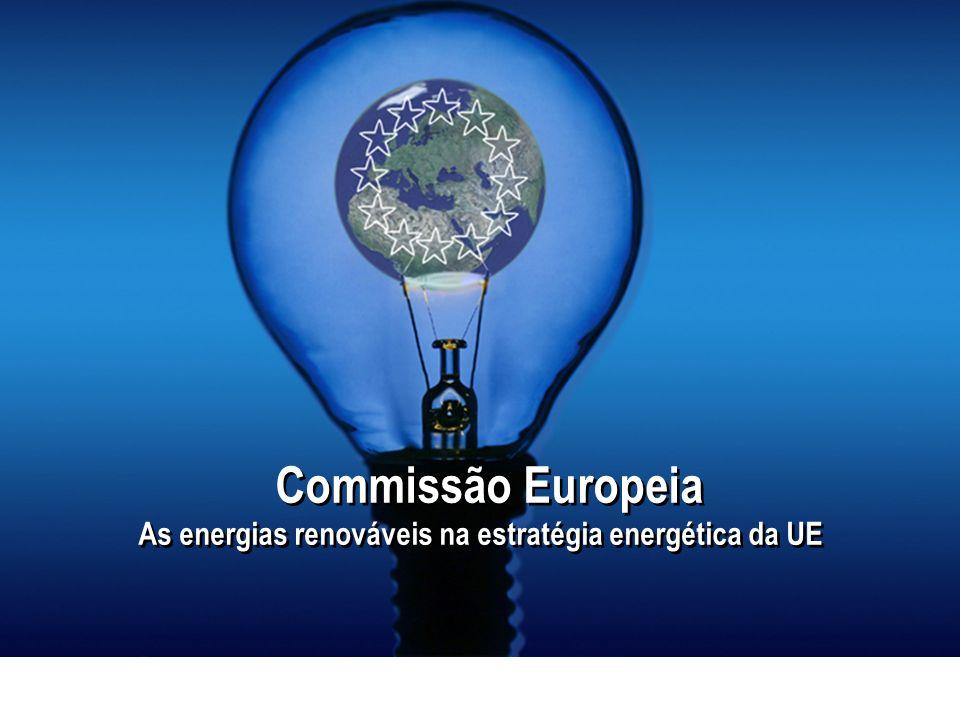 Commissão Europeia As energias renováveis na estratégia energética da UE Commissão Europeia As energias renováveis na estratégia energética da UE