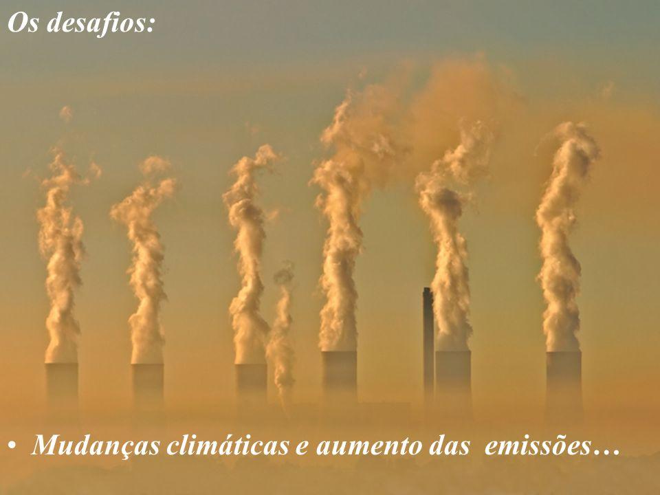 Os desafios: Mudanças climáticas e aumento das emissões…