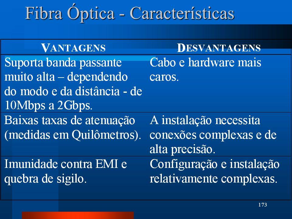 173 Fibra Óptica - Características