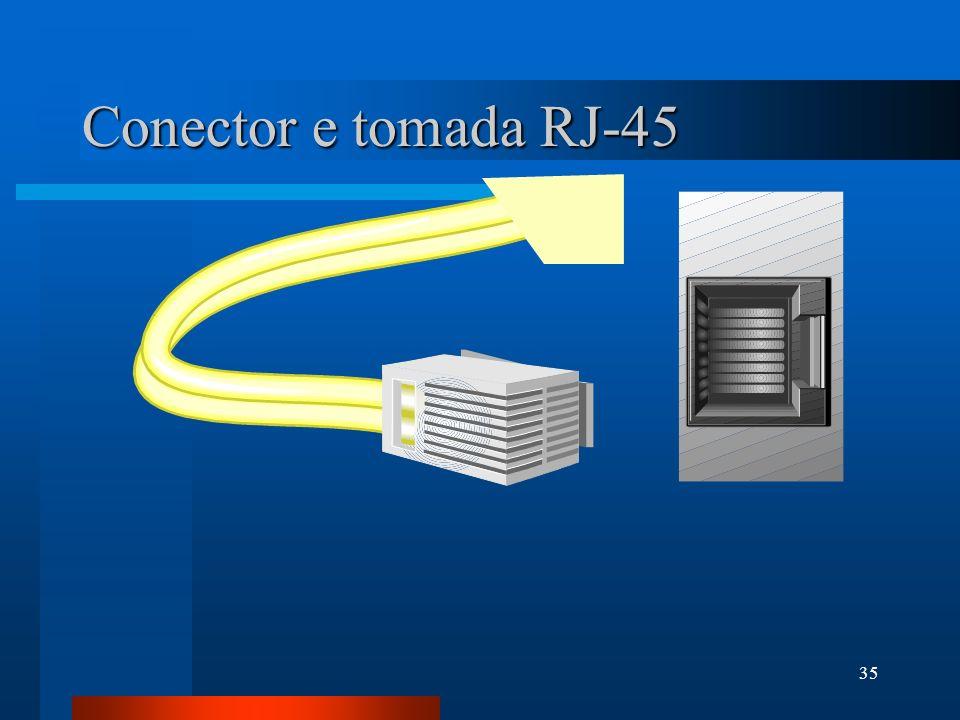 35 Conector e tomada RJ-45