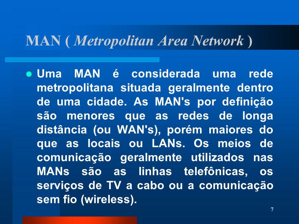 118ARCNET Cada placa de rede tem um endereço de nó único, variando de 1 a 255 (endereço físico, determinado na configuração da placa).