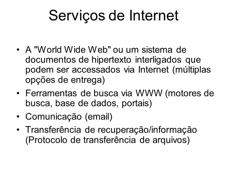 Serviços de Internet A