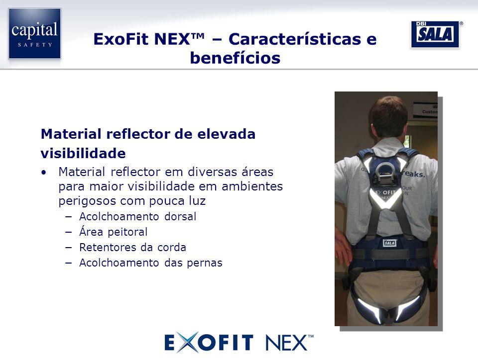 ExoFit NEX – Características e benefícios Material reflector de elevada visibilidade Material reflector em diversas áreas para maior visibilidade em a