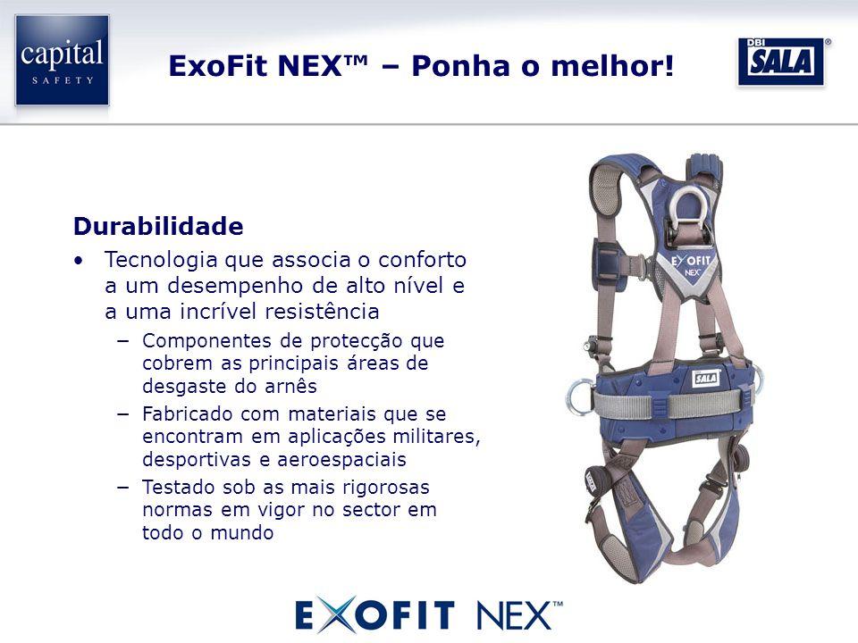 ExoFit NEX – Ponha o melhor! Durabilidade Tecnologia que associa o conforto a um desempenho de alto nível e a uma incrível resistência Componentes de
