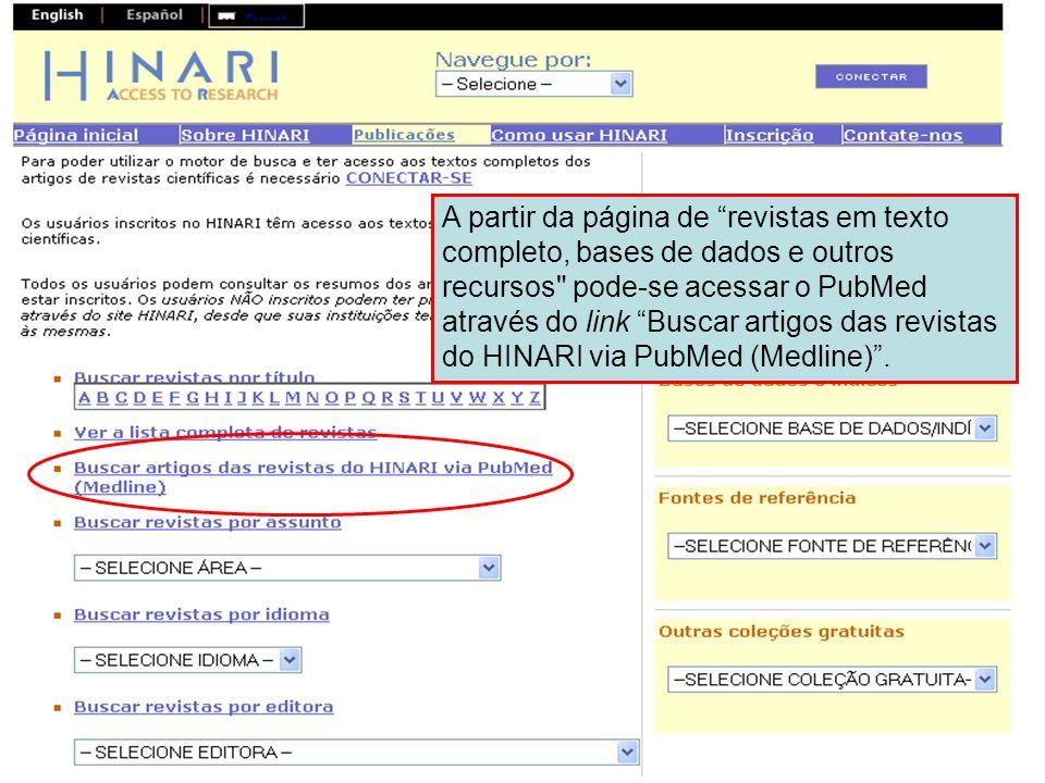 PubMed home page 1 Bem-vindos à página eletrônica do PubMed Esta parte do módulo mostrará a interface de pesquisa, as opções de mostrar na tela (display) as referências, as opções de acesso às referências e como enviar por email dos resultados.
