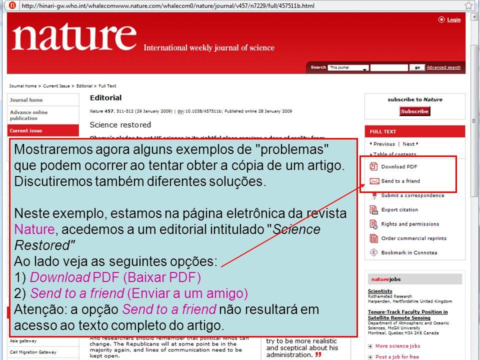 ` Ao clicar em PDF depara-se com uma página em branco que parece não ter opções para voltar à página anterior.