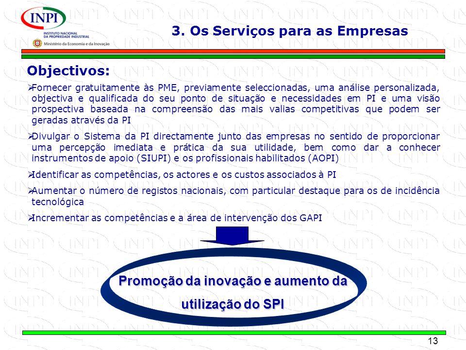 13 MINISTÉRIO DA ECONOMIA E DA INOVAÇÃO Objectivos: Fornecer gratuitamente às PME, previamente seleccionadas, uma análise personalizada, objectiva e q