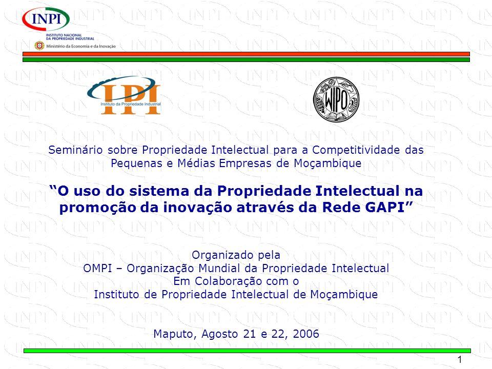 1 MINISTÉRIO DA ECONOMIA E DA INOVAÇÃO Seminário sobre Propriedade Intelectual para a Competitividade das Pequenas e Médias Empresas de Moçambique O u