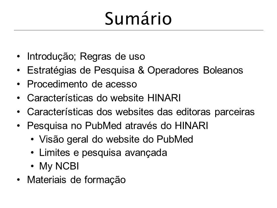 Neste exemplo, selecionámos a opção Find journals by subject category Tropical Medicine .