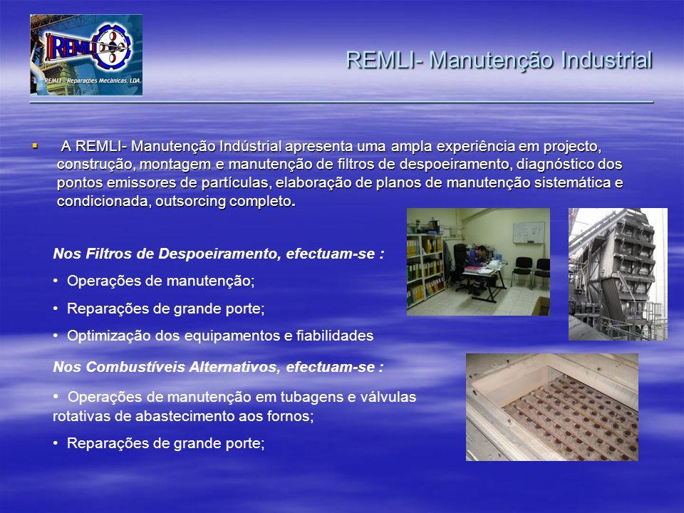 A REMLI- Manutenção Indústrial apresenta uma ampla experiência em projecto, construção, montagem e manutenção de filtros de despoeiramento, diagnóstic