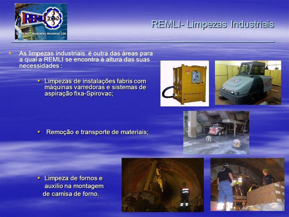 As limpezas industriais é outra das áreas para a qual a REMLI se encontra à altura das suas necessidades : Limpezas de instalações fabris com máquinas