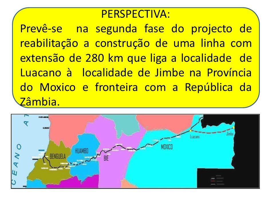 PERSPECTIVA: Prevê-se na segunda fase do projecto de reabilitação a construção de uma linha com extensão de 280 km que liga a localidade de Luacano à