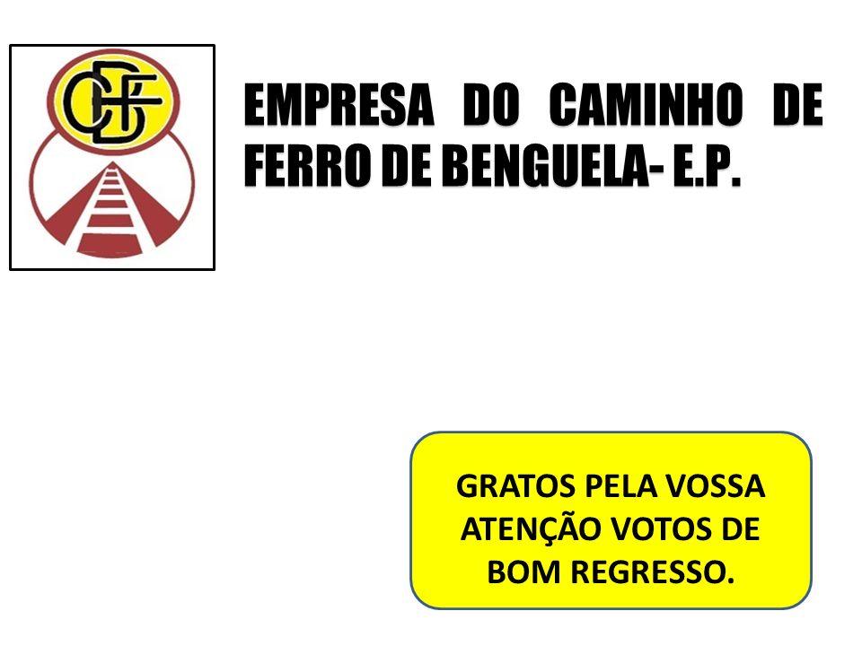 EMPRESA DO CAMINHO DE FERRO DE BENGUELA- E.P. GRATOS PELA VOSSA ATENÇÃO VOTOS DE BOM REGRESSO.